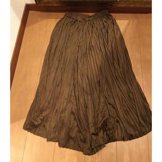 ロートレアモン(LAUTREAMONT)のソコラ スエード調 スカートパンツ(カジュアルパンツ)