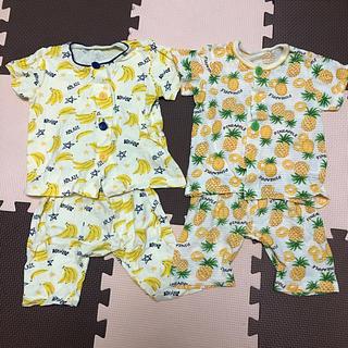 シマムラ(しまむら)のバナナ&パイナップル腹巻き付きパジャマセット 90(パジャマ)