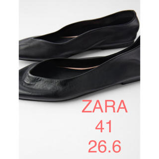ザラ(ZARA)のタイムセール!新品 ZARA フラットシューズ 41 26.6 26.5(バレエシューズ)