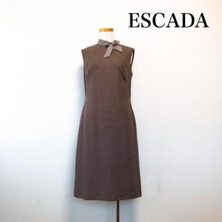 エスカーダ(ESCADA)のESCADA エスカーダ 膝丈 ボウタイ ワンピース 大人上品 美シルエット♡ (ひざ丈ワンピース)
