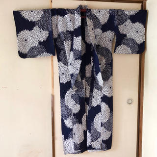 手縫い浴衣 花柄 ~レトロモダン✴︎大正ロマン✴︎アンティーク風・クラシック~(浴衣)