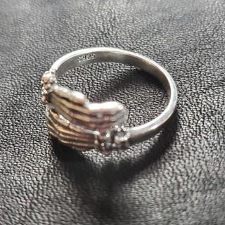 クレイジーピッグ(CRAZY PIG)のsilver925 bone hand design Ring リング(リング(指輪))