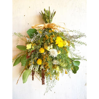 Summer Champedre Bouquet Swag〜サマーブーケスワッグ(ドライフラワー)