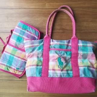ラルフローレン(Ralph Lauren)のラルフローレン マザーズバッグ マドラスチェック おむつ換えシート付 ピンク(マザーズバッグ)