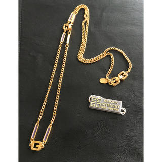 ジバンシィ(GIVENCHY)のGIVENCHY ジバンシィ エナメル Gロゴ ロング ネックレス 美品(ネックレス)