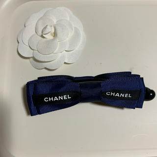 シャネル(CHANEL)のCHANEL☆リボンバナナクリップ(バレッタ/ヘアクリップ)