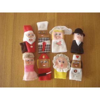 イケア(IKEA)のIKEA イケア 指人形 TITTA FOLK 8個セット■ソフトトイ(ぬいぐるみ/人形)