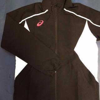 アシックス(asics)のasics(アシックス)レディース トレーニングジャケット ブラック(ナイロンジャケット)
