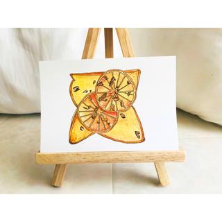 オレンジとカカオニブのトースト【原画 水彩画】(雑貨)