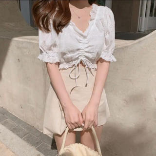 ディーホリック(dholic)の♡韓国 Cotton lace blous  ♡(シャツ/ブラウス(半袖/袖なし))