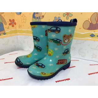 ミキハウス(mikihouse)の【美品】ミキハウス プッチー レインブーツ 長靴 (15.0)(長靴/レインシューズ)