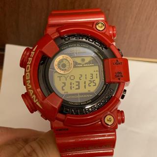 ジーショック(G-SHOCK)のカシオ G-SHOCK 腕時計 フロッグマン レッド 30周年記念(腕時計(デジタル))