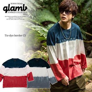 グラム(glamb)のglamb グラム Tie-dye border CS メンズ Tシャツ(Tシャツ/カットソー(七分/長袖))