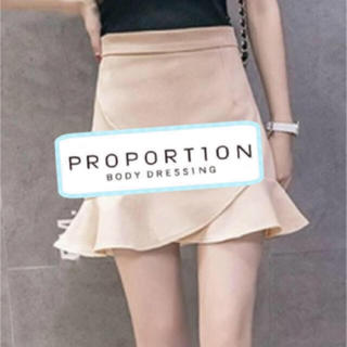 プロポーションボディドレッシング(PROPORTION BODY DRESSING)のプロポーションボディドレッシング スカート フリル ベージュ(ミニスカート)