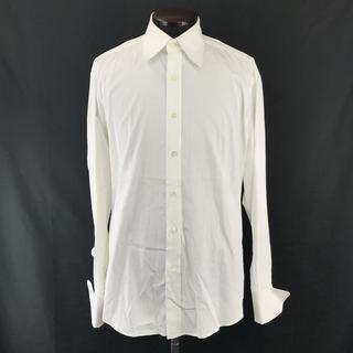 グッチ(Gucci)のイタリア製 GUCCI 長袖ドレスシャツ サイズ40 白(シャツ)