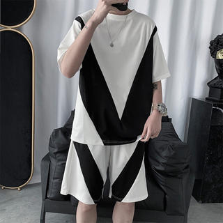 セットアップ 半袖 Tシャツ ハーフパンツ ルームウェア 白FMKckj(その他)