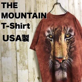 THE MOUNTAIN タイガー ムラ染め Tシャツ ビッグサイズ USA製(Tシャツ/カットソー(半袖/袖なし))