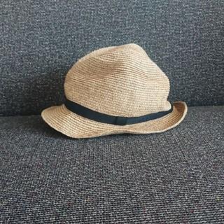 ネストローブ(nest Robe)のmature ha. BOXED HAT 4.5cm(麦わら帽子/ストローハット)