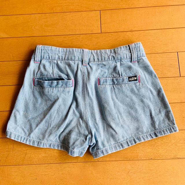 F.O.KIDS(エフオーキッズ)のALGY アルジー デニム ショートパンツ キッズ/ベビー/マタニティのキッズ服女の子用(90cm~)(パンツ/スパッツ)の商品写真