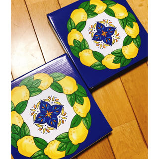 カルディ(KALDI)のお値下げ‼️新品 カルディ レモンバック お皿 2点のみ 匿名配送(食器)