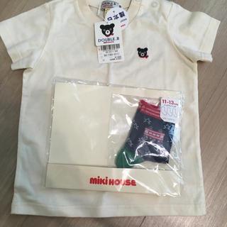 ダブルビー(DOUBLE.B)のミキハウス Tシャツと靴下セット(Tシャツ)
