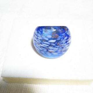 夏にピッタリ ガラスリング 15号(リング(指輪))