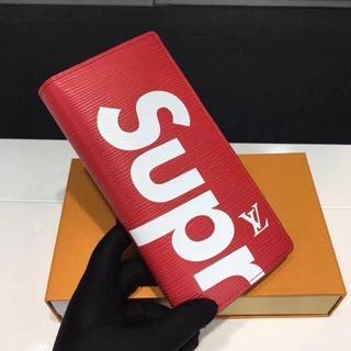 赤色 シュプリーム 折り財布