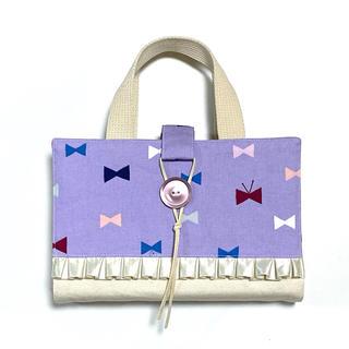 レビューブックカバー purple ribbon(ブックカバー)