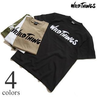 ワイルドシングス(WILDTHINGS)の今季モノ!WILDTHINGS /ワイルドシングス フロッキングPロゴTシャツ (Tシャツ/カットソー(半袖/袖なし))