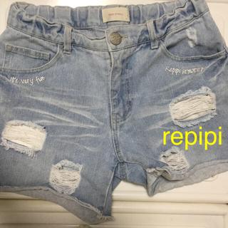 レピピアルマリオ(repipi armario)のrepipi  デニム ショートパンツ Sサイズ(ショートパンツ)