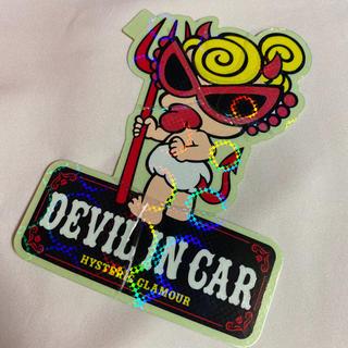 ヒステリックミニ(HYSTERIC MINI)のヒステリックミニ devil in car シール ステッカー(キャラクターグッズ)