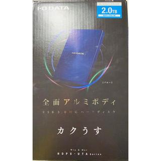 アイオーデータ(IODATA)の【stimpy様専用】I・O・DATA 外付けHDD ブルー(PC周辺機器)
