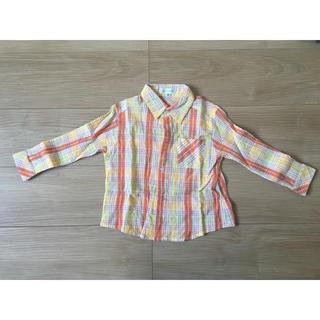エニィファム(anyFAM)のチェックシャツ 男女兼用 100㎝(ブラウス)