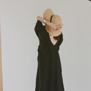 イエナ(IENA)のCLANE OVER BRIM HAT タグ付き 新品 クラネ(麦わら帽子/ストローハット)