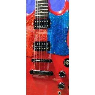 エピフォン(Epiphone)のEpiphone G-310 all ブラックパーツ +Gotoペグ交換(エレキギター)