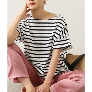 ルミノア(Le Minor)のLeminor/ルミノア ワイドボーダーショートスリーブカットソー (Tシャツ(半袖/袖なし))