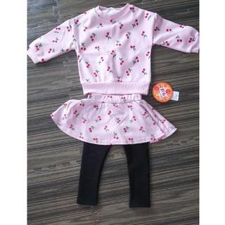 ニシマツヤ(西松屋)の女の子 子供服上下ピンク90cm タグつき(その他)