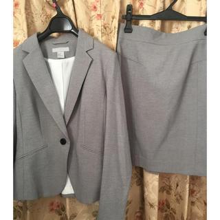 エイチアンドエム(H&M)のH&M グレー スカート スーツ(ジャケット:38サイズ、スカート:40サイズ)(スーツ)