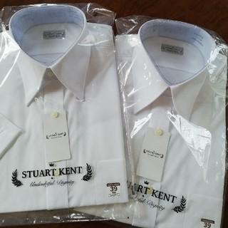 アオヤマ(青山)の新品!上質ワイシャツ 39半袖 2枚 形態安定性能 イージーアイロン(シャツ)
