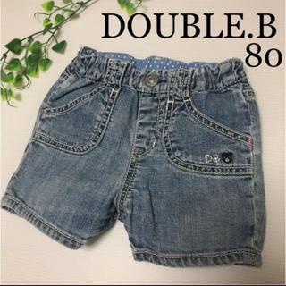 ダブルビー(DOUBLE.B)のミキハウス ダブルビー ショートパンツ 80 春 夏 デニム パンツ ファミリア(パンツ)
