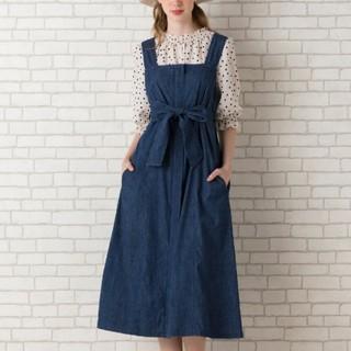 ローズティアラ(Rose Tiara)のRose Tiara ジャンパースカート ソフトデニム 大きいサイズ 42(ロングワンピース/マキシワンピース)