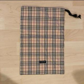 バーバリー(BURBERRY)の美品 バーバリー布製巾着ポーチ(ポーチ)