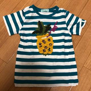 ハッカキッズ(hakka kids)の未使用 ハッカキッズ 刺繍 Tシャツ(Tシャツ/カットソー)