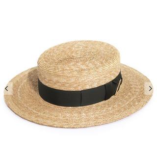 カシラ(CA4LA)のCA4LAカンカン帽(麦わら帽子/ストローハット)