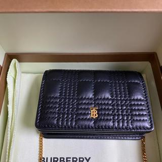 バーバリー(BURBERRY)のBurberry  キルティング ラムスキン カードケース(名刺入れ/定期入れ)
