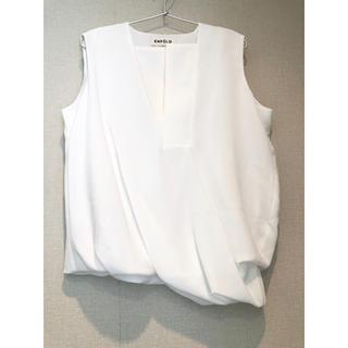 エンフォルド(ENFOLD)のENFOLD ホワイト ノースリーブ シフォン ブラウス(シャツ/ブラウス(半袖/袖なし))
