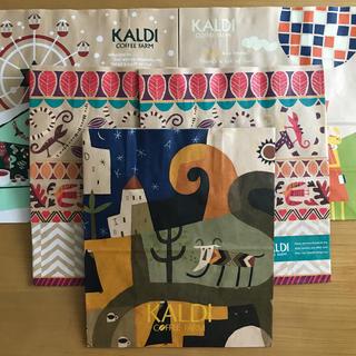 カルディ(KALDI)のカルディ 紙袋 5枚セット(ノベルティグッズ)