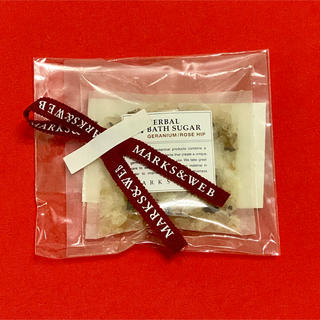 MARKS&WEB BATH SUGAR GERANIUM/ROSE HIP