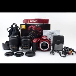 ニコン(Nikon)のニコン Nikon D5500 Wレンズセット レッド#618604(デジタル一眼)