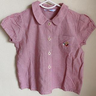 ファミリア(familiar)の1回着用 ファミリア チェック ブラウス 半袖 90 シャツ familiar(ブラウス)
